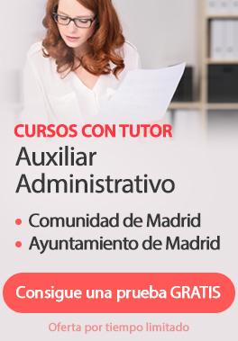 Curso con Tutor Auxiliar Administrativo - Madrid